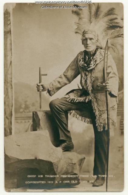 """Frank """"Big Thunder"""" Loring, ca. 1890"""