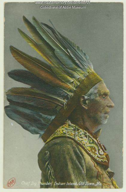 """Frank """"Big Thunder"""" Loring, ca. 1900"""