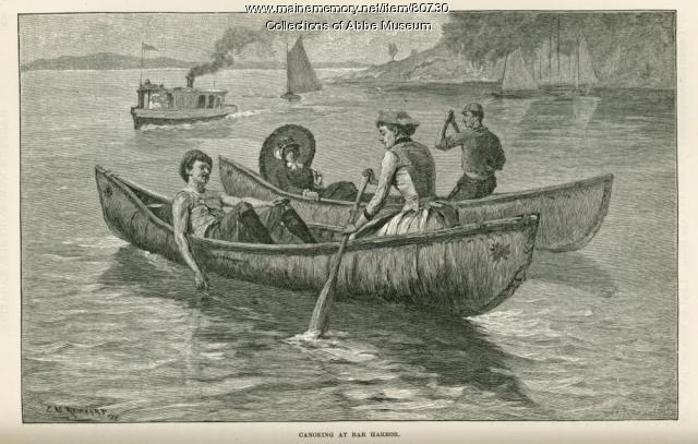 Canoeing at Bar Harbor, 1886