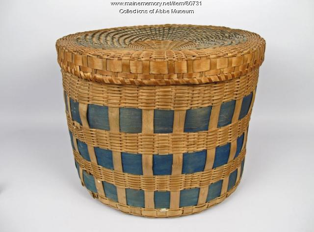 Band box basket, Penobscot, ca. 1850