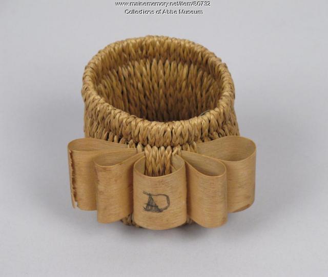 Napkin ring, Wabanaki, ca. 1900