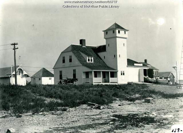 Coast Guard Life Saving Station, Biddeford Pool, ca. 1917