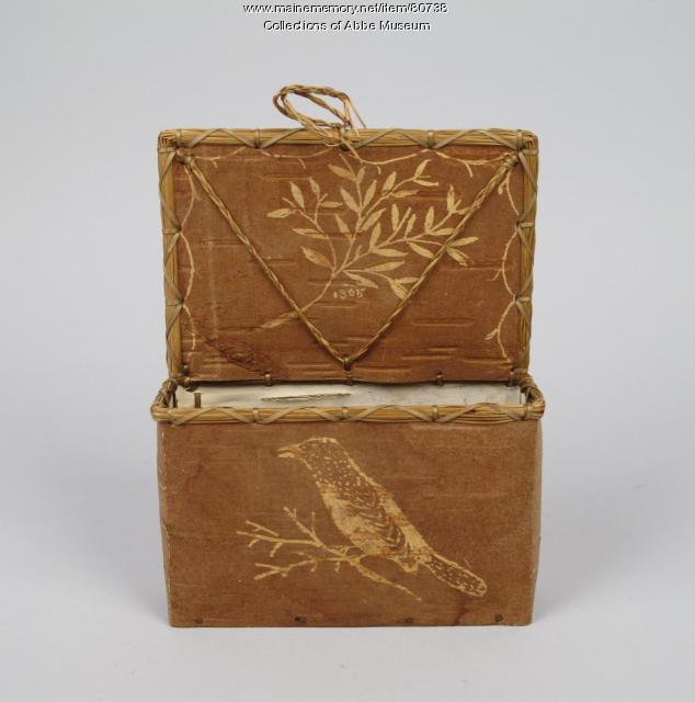 Letter box, Passamaquoddy, 1905