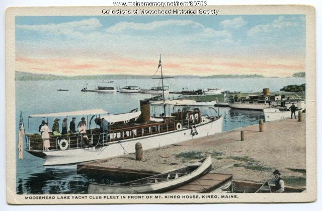 "Yacht ""Ioneta,"" Moosehead Lake, ca. 1925"
