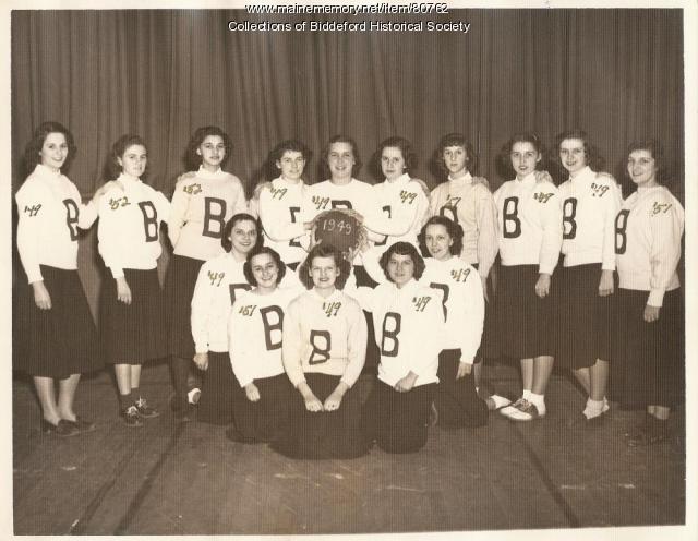 Girls Basketball Team St. Andre School, Biddeford, ca. 1950