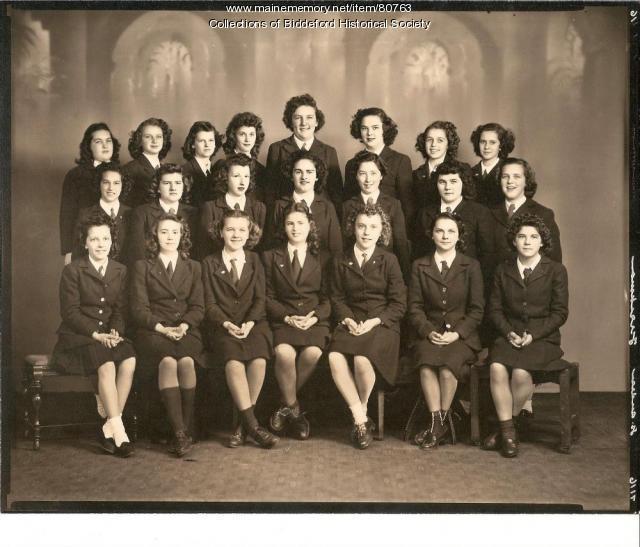 School girls, St. Andre's, Biddeford, 1949