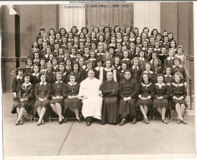 High school girls at St. Andre's school, 1945