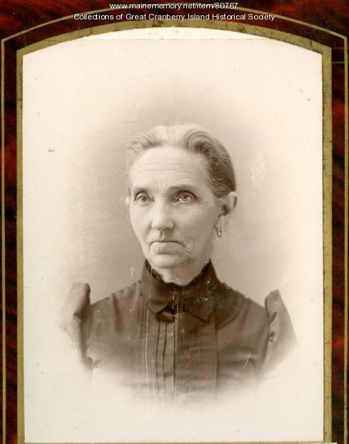 Jane Matilda Hadlock Sanford Preble, Great Cranberry Island, ca. 1890