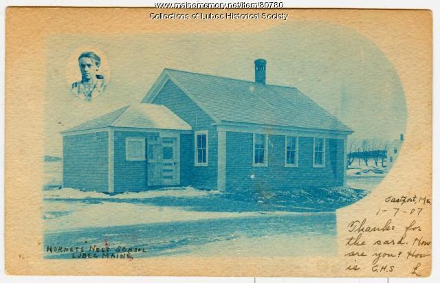 """Hornet's Nest"" School, Lubec, 1906"