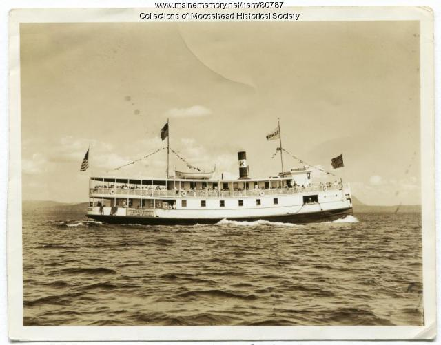 Katahdin II Excursion on Moosehead Lake, ca. 1920