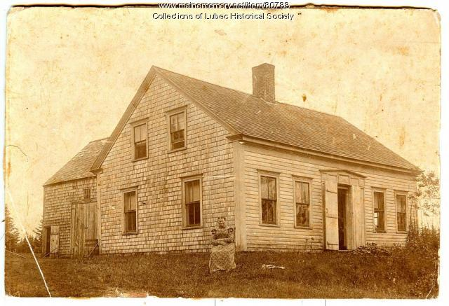 Farmhouse and barn, Lubec, ca. 1900