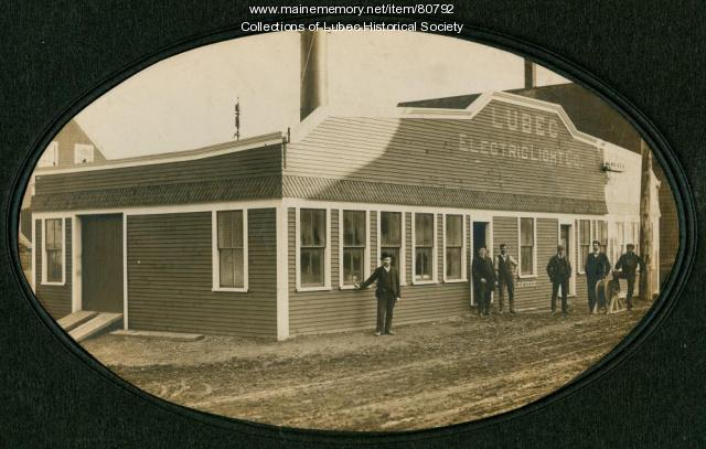 First electric generating plant, Lubec, ca. 1903