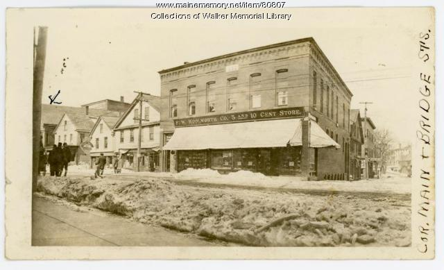 F.W. Woolworth Co. and Cumberland Telephone Co., Westbrook, ca. 1915