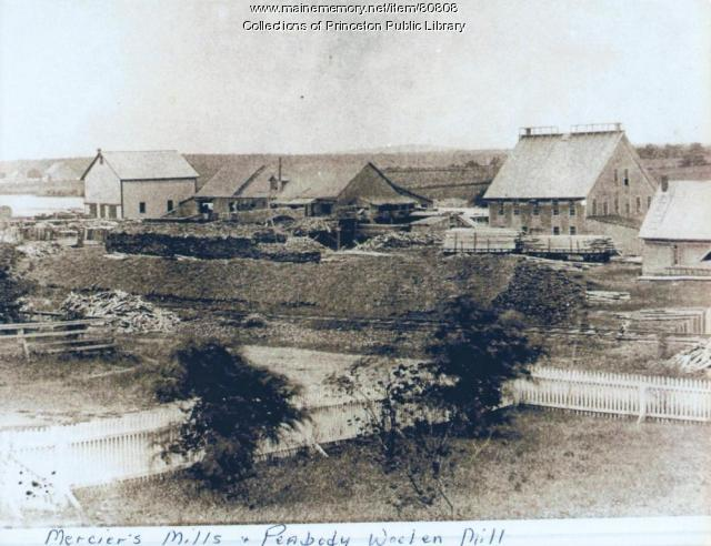 Merciers Mill & Peabody Woolen Mill, Princeton, ca.