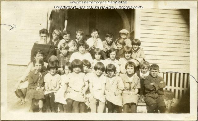 Woodrowville School students, Rumford, 1925