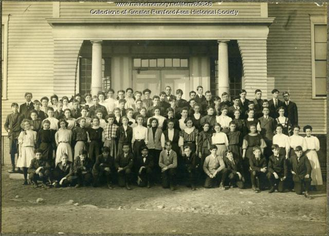 Chisholm High School, Rumford Falls, 1908