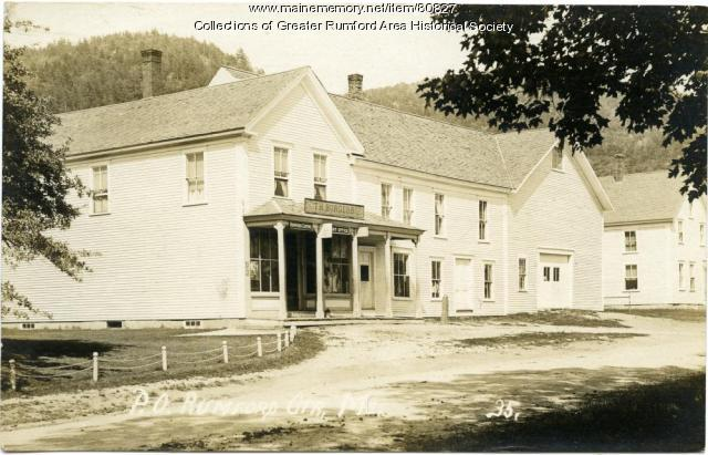 Post Office and Burgess Store, Rumford Center, ca. 1921