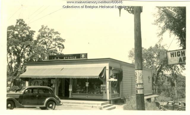 Davis & Company Upper Store, Maine Street, Bridgton, ca. 1938