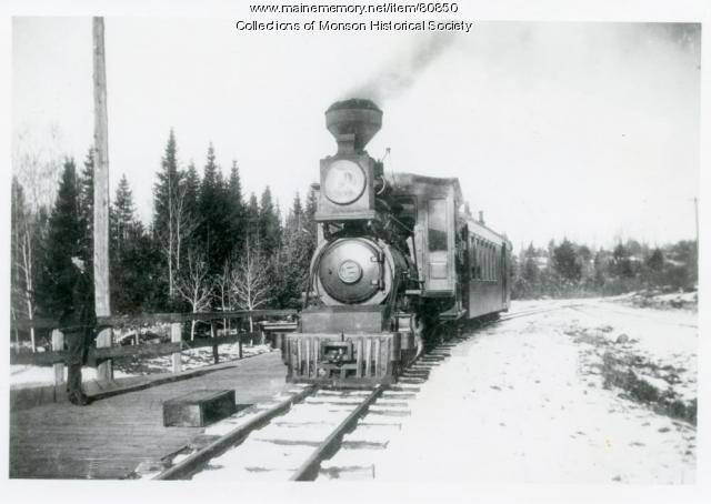 The Monson Narrow Gauge Engine Number 3, ca. 1915