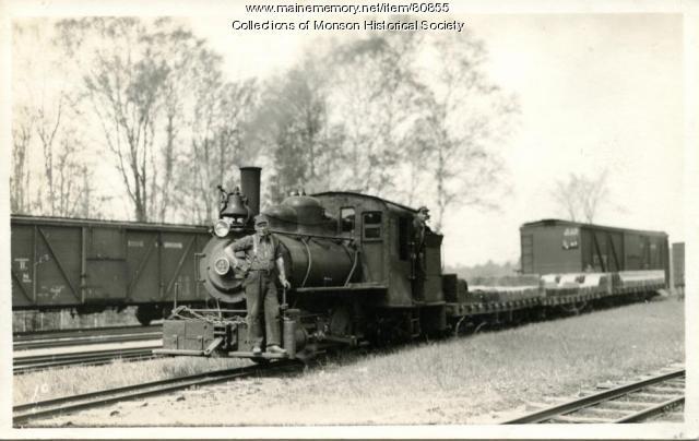 The Narrow Gauge Engine Number 4, Monson, ca. 1930