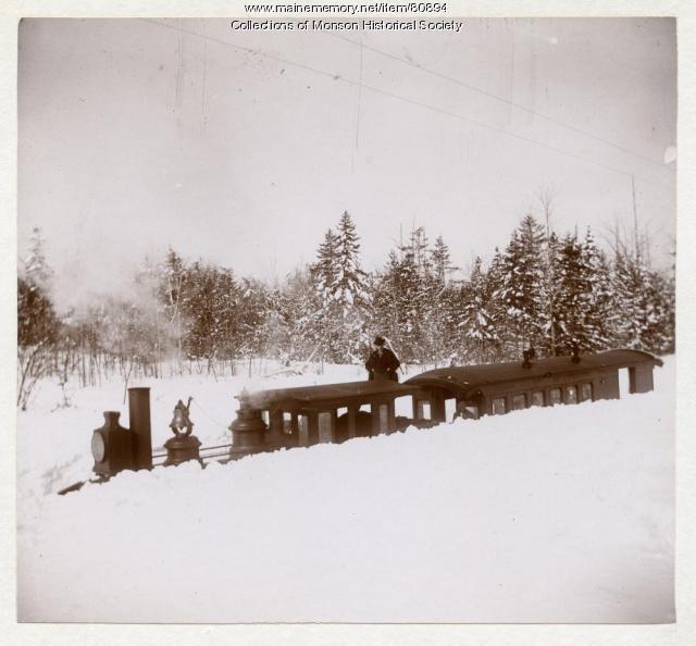 Monson Railroad Snow Cut, 1898