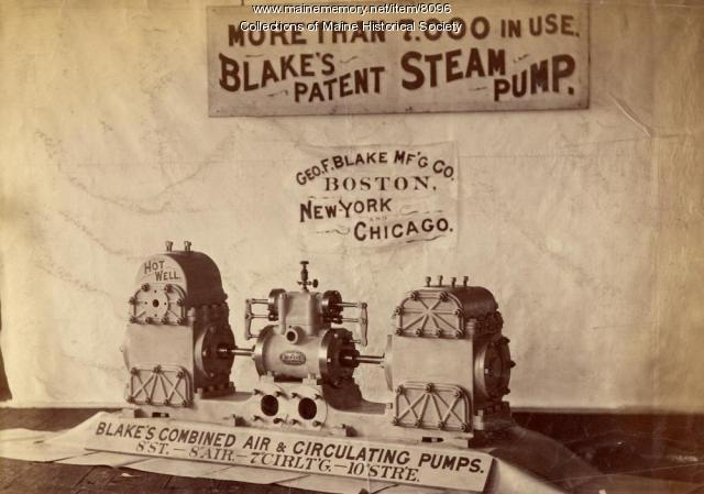 Blake's steam pump display