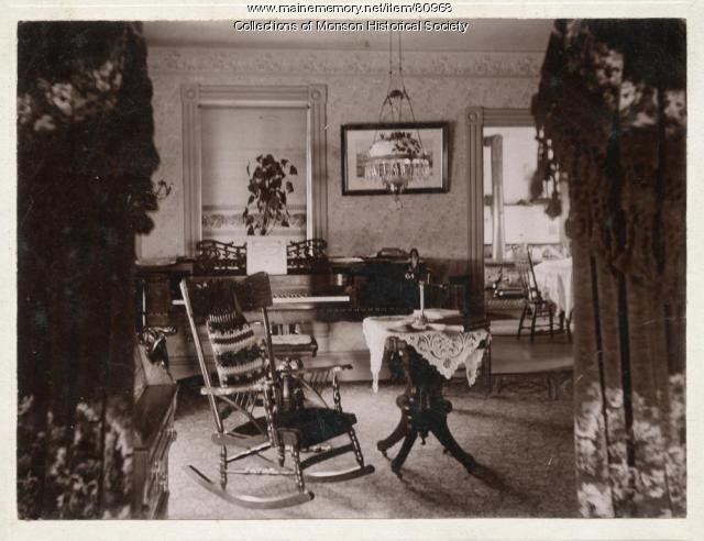 Sitting Room of Early Monson home,  ca. 1900