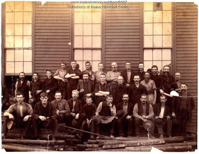 Blacksmith shop employees, Portland Company, 1887