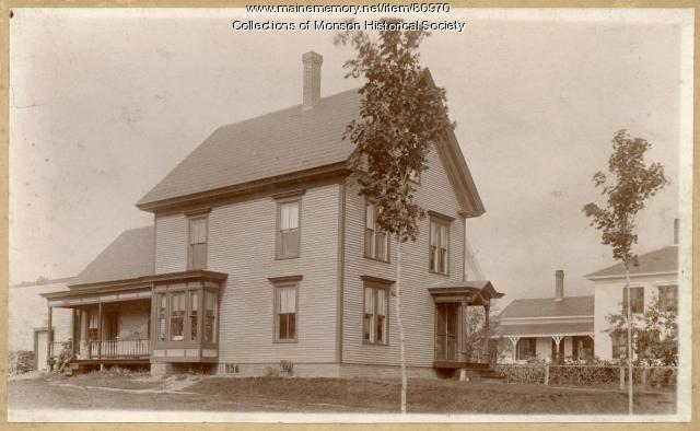 Walter Jackson home, Monson ca 1900