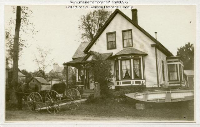 Home of Esther and Sam Pennington, Monson, ca. 1930