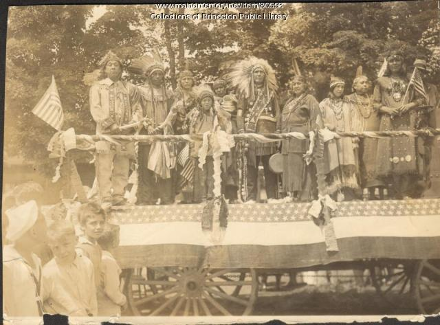 Native American Parade Float, Princeton, 1932