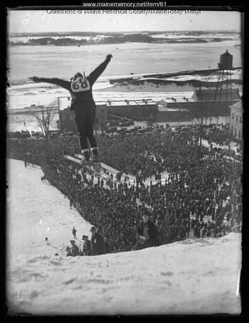 Ski jumper in Portland, 1924