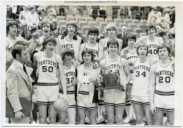 Rumford High School Basketball State Champs, 1976