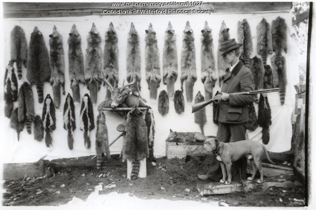 Trapper with Pelts, Waterford, ca. 1910