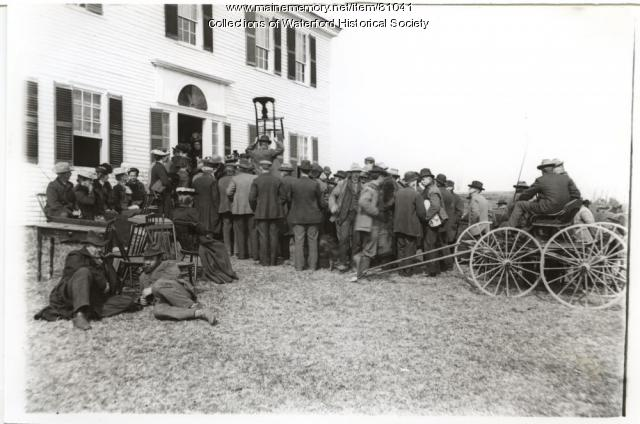 Sumner Stone auction, Waterford, ca. 1910