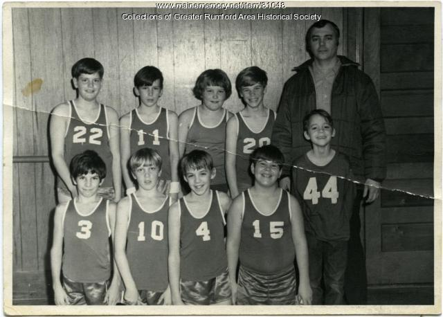 Mechanics Institute Basketball Team, Rumford, ca. 1970