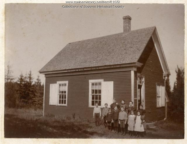 One Room Schoolhouse in Day District, Monson ca. 1900