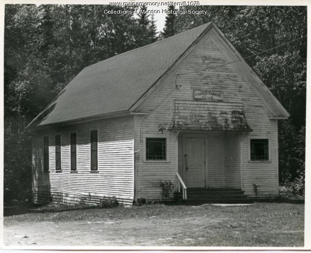 Long School/Finnish Farmers Club, Monson,  1970