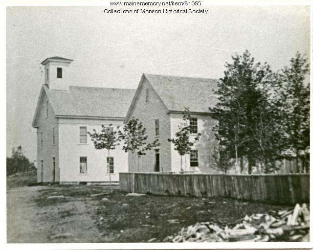 Monson Grammer School & Monson Academy, Monson ca. 1890