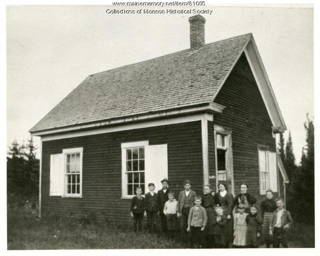 Red School House, Monson, 1898