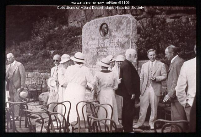 Dedication of Joseph H. Curtis Memorial, Northeast Harbor, 1933