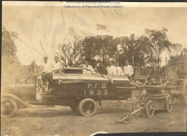 Fire Department Float, Princeton, 1932