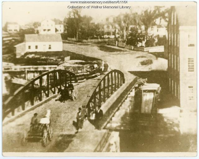 Old Iron Bridge, Bridge St., Westbrook, ca 1880