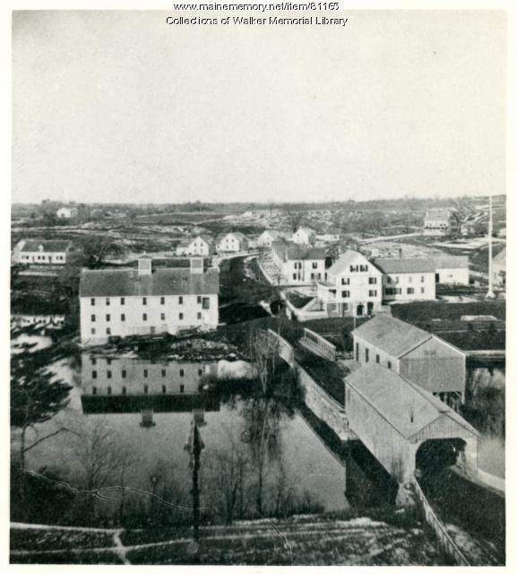 Covered Bridge, Westbrook, ca. 1870