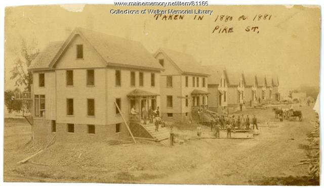 Pike Street construction, Westbrook, ca. 1880