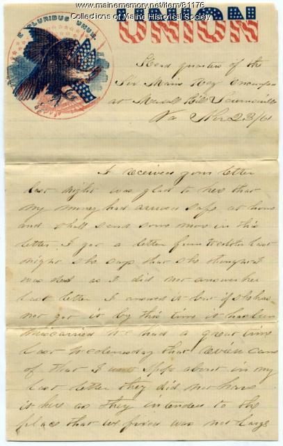 Pvt. John Stewart on McLellan, Lincoln visit, Virginia, 1861