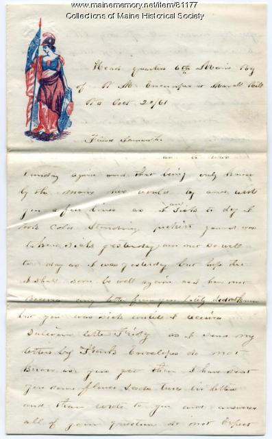 Pvt. John E. Stewart on letter writing, Virginia, 1861