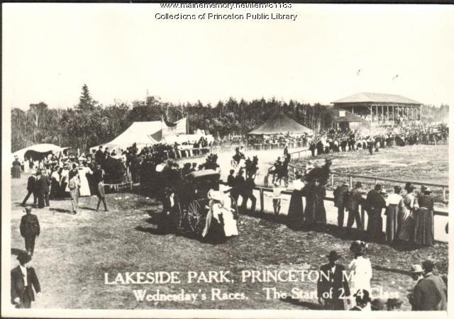 Lakeside Park Wednesday Races, Princeton, ca. 1910