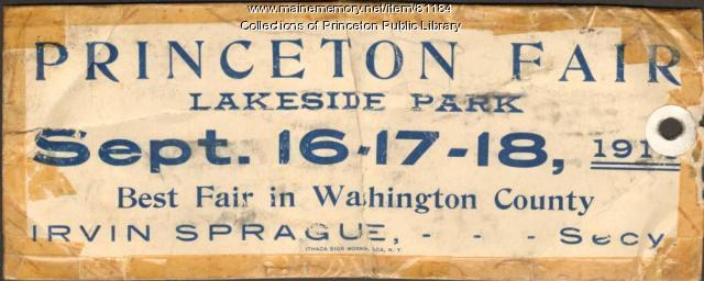Princeton Fair Poster, Princeton, ca. 1911
