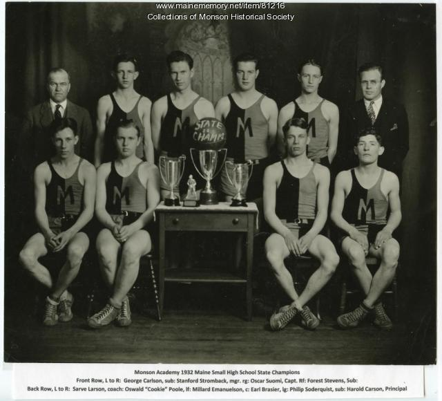 1932 Monson Academy State Champion Basketball Team, Monson 1932